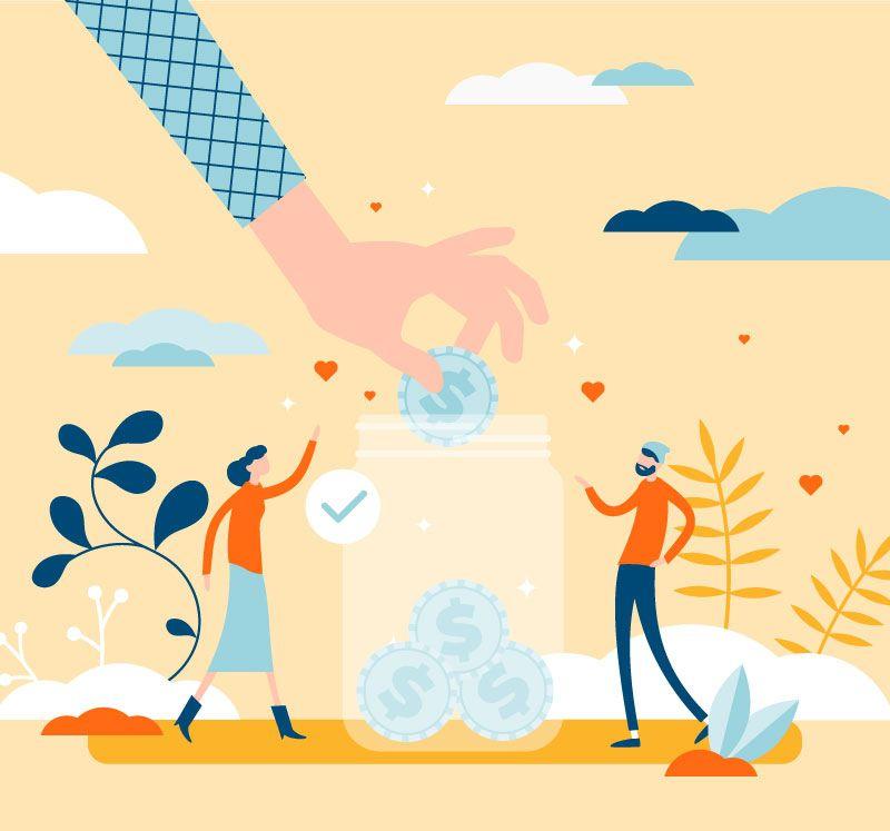 Illustration pour montrer les activités de financement